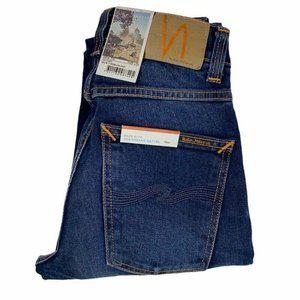 Nudie Jeans Mens Grim Tim Skinny Blue Stretch Dark